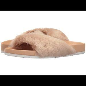 Vince Garrison Rose Fur Pool Slide size 7